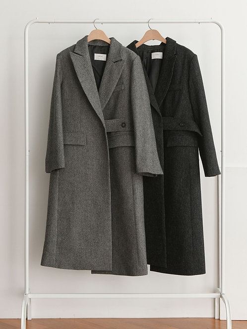 Straight Line Wool Coat