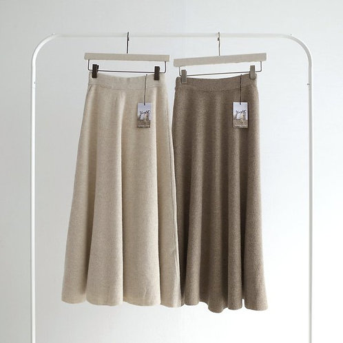 Cashmere Flare Knit Skirt