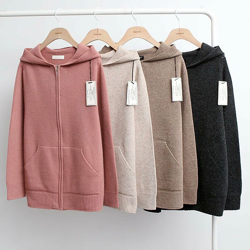 Wholegarment Hoody Zip-Up
