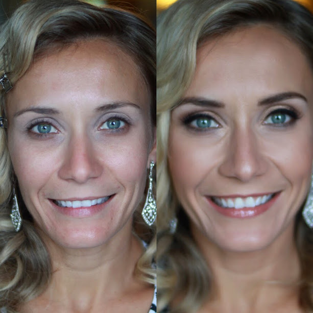 before and after old hollywood  makeup artist jessica galdy makeup made eazy bridal makeup boston