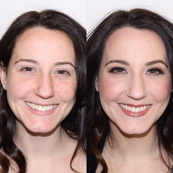 before and after bridal makep mme