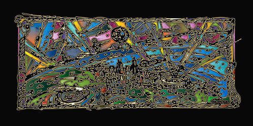 "Fare Thee Well Chicago-Giclée 48""x24""x2"""