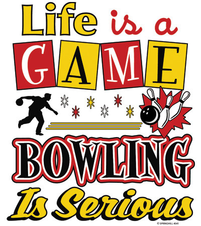 Life's a Game Bowling T-shirt Transfers 12pc