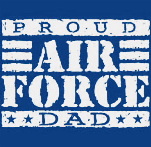 Air Force Dad T-shirt Transfers 12pc