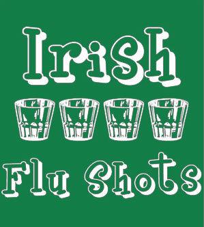Irish Flu Shot T-shirt Transfers 12pc