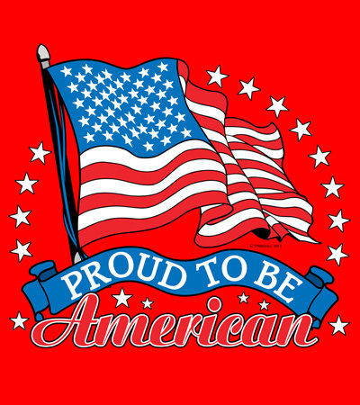 Proud to be American T-shirt Transfers 12pc