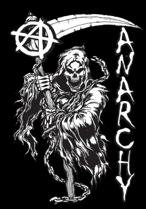 Anarchy Reaper T-shirt Transfers 12pc