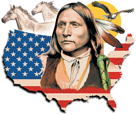 American Flag Indian T-shirt Transfers 12pc