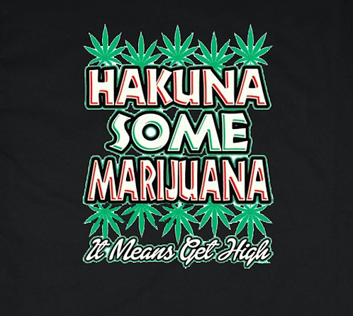 Hakuna Marijuana T-shirt Transfers 12pc