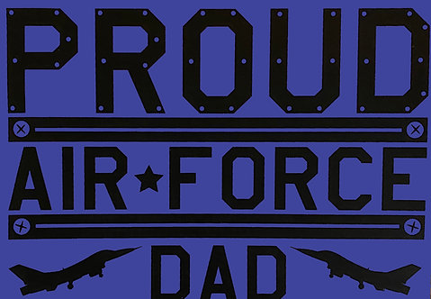 Proud Air Force Dad T-shirt Transfers 12pc