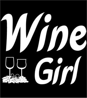 Wine Girl T-shirt Transfers 12pc
