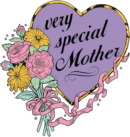 Very Special Mother T-shirt Transfers 12pc