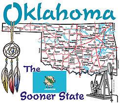 Oklahoma T-shirt Transfers 12pc