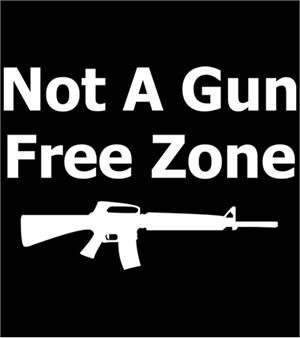 Not a Gun Free Zone T-shirt Transfers 12pc