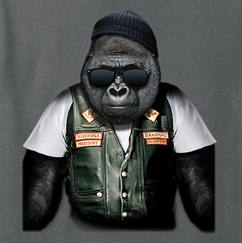 Biker Gorilla T-shirt Transfers 12pc