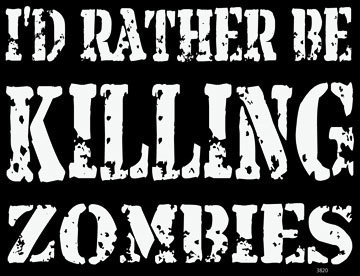 Killing Zombies T-shirt Transfers 12pc