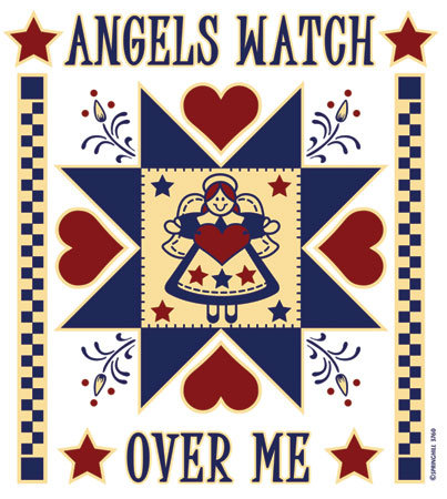 Angels Watch Over Me T-shirt Transfers 12pc