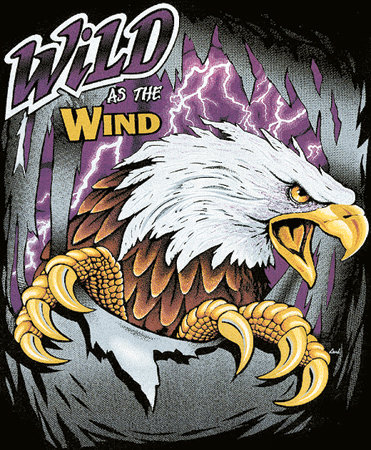 Wild As The Wind Eagle T-shirt Transfers 12pc