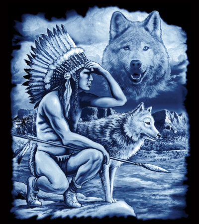 Indian Wolves T-shirt Transfers 12pc