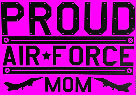 Proud Air Force Mom T-shirt Transfers 12pc