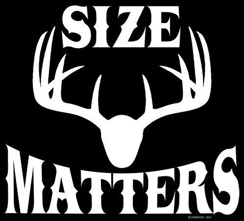 Size Matters Hunting T-shirt Transfers 12pc