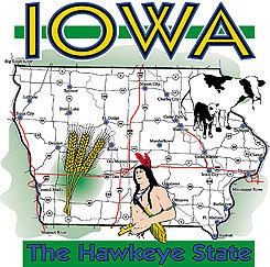 Iowa T-shirt Transfers 12pc