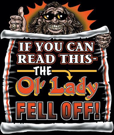 Ol' Lady Fell Off Biker T-shirt Transfers 12pc