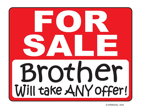 Brother for Sale T-shirt Transfers 12pc