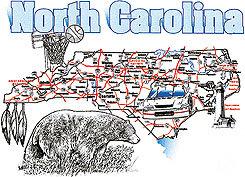 North Carolina T-shirt Transfers 12pc