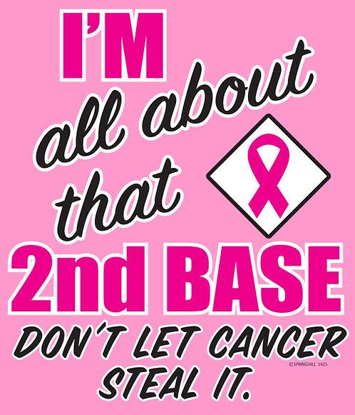 2nd Base Pink Ribbon T-shirt Transfers 12pc