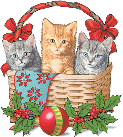 Christmas Kittens T-shirt Transfers 12pc