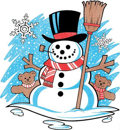 Snowman Christmas T-shirt Transfers 12pc