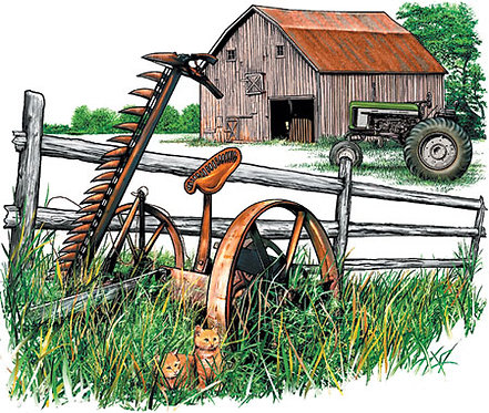 Country Farm T-shirt Transfers 12pc