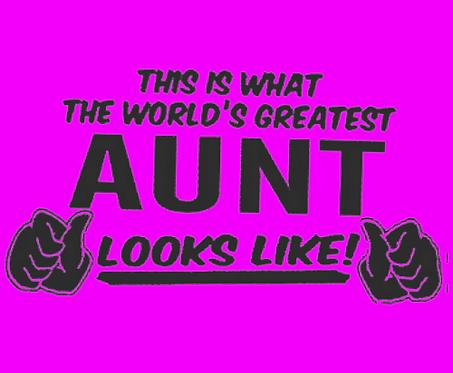 aunt iron on transfer