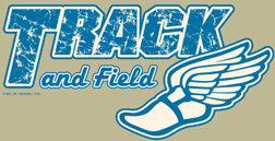 Track and Field T-shirt Transfers 12pc