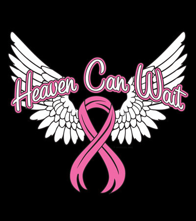 Heaven Can Wait Pink Ribbon T-shirt Transfers 12pc