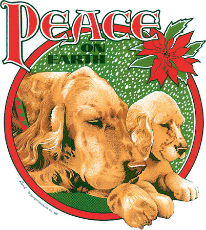 Peace on Earth Christmas T-shirt Transfers 12pc