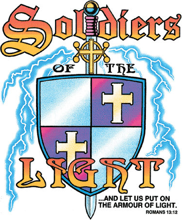 Soldiers of the Light T-shirt Transfers 12pc
