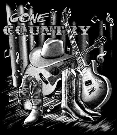 Gone Country T-shirt Transfers 12pc