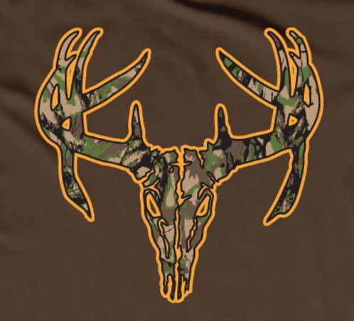 Camo Deer T-shirt Transfers 12pc