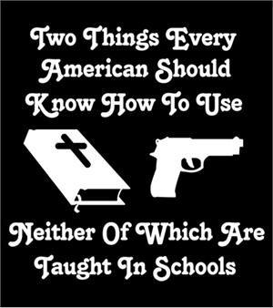 Gun and Bible T-shirt Transfers 12pc