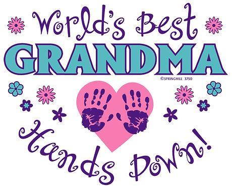 World's Best Grandma T-shirt Transfers 12pc