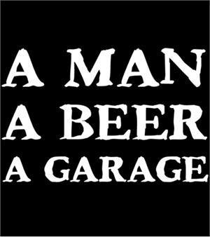 Man Beer Garage T-shirt Transfers 12pc
