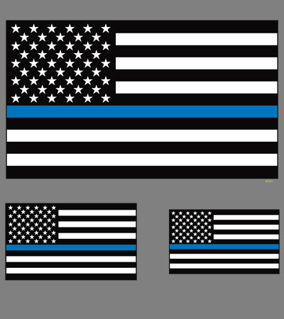 Blue Lives Matter T-shirt Transfers 12pc