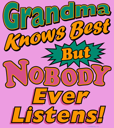 Grandma Knows Best Youth T-shirt Transfers 12pc