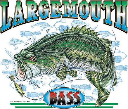 Largemouth Bass Fishing T-shirt Transfers 12pc