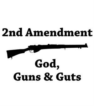 God Guns Guts T-shirt Transfers 12pc