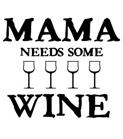 Mama Needs Some Wine T-shirt Transfers 12pc