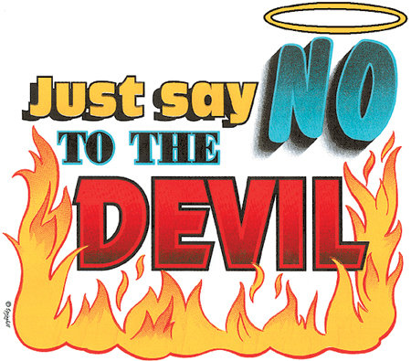 Say No To The Devil T-shirt Transfers 12pc