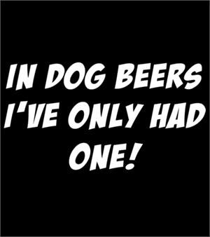 Dog Beers T-shirt Transfers 12pc